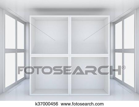 Cool Empty Exhibit Showcases In Blank Interior Showroom Stock Illustration Download Free Architecture Designs Scobabritishbridgeorg