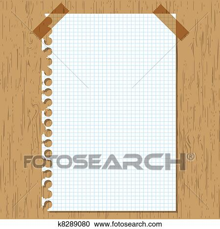 Stock Illustrations Of Sticky Paper Graph On Wooden Board K8289080