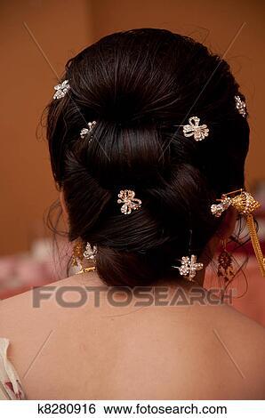 Thai Wedding Hair Style Stock Photograph