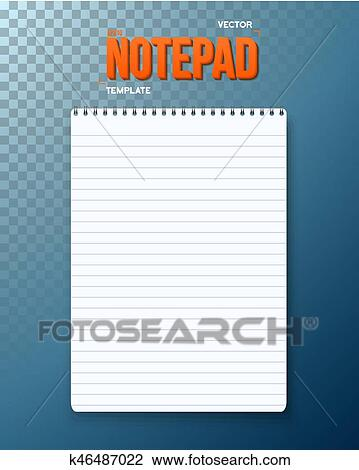 clipart of vector notepad notebook template k46487022 search clip