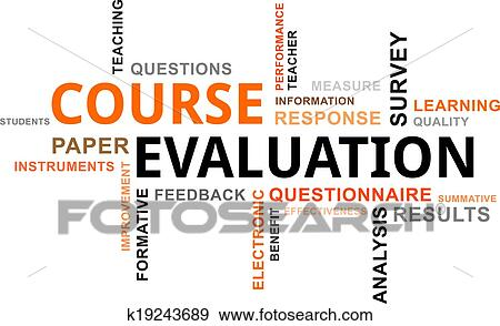 clip art of word cloud course evaluation k19243689 search