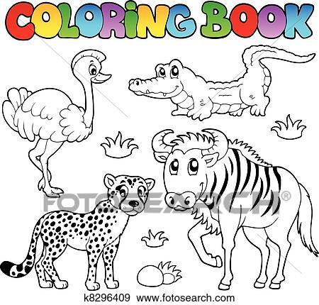 Clip Art Ausmalbilder Savanne Tiere 2 K8296409 Suche Clipart