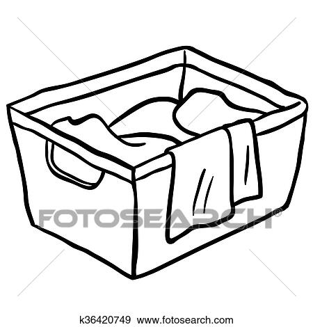 black and white laundry basket clip art rh fotosearch com Laundry Room Labels Dirty Socks Clip Art Black and White