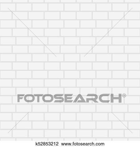 Blanc, Céramique, Brique, Wall., Vecteur, Illustration., Fond