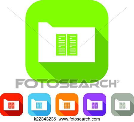Couleur Ensemble De Plat Dossier A Document Ou Livre Clipart