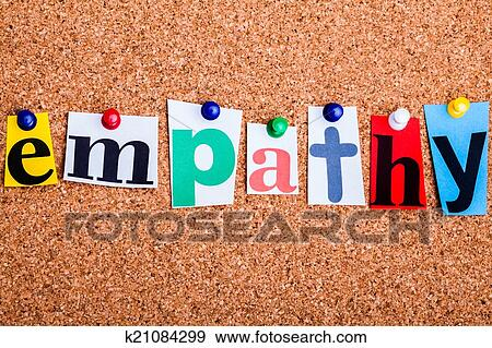 Stock photograph of the word empathy in cut out magazine letters stock photograph the word empathy in cut out magazine letters pinned to a cork no spiritdancerdesigns Choice Image
