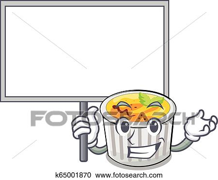 Bring board food creme brule cartoon ready eat Clipart ...