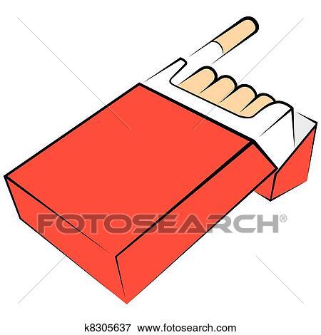 Dessin Paquet De Cigarette clipart - cigarettes, paquet k8305637 - recherchez des cliparts, des