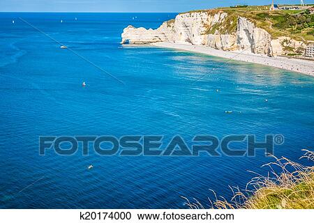 Cliffs Of Etretat Normandy France Stock Image K20174000