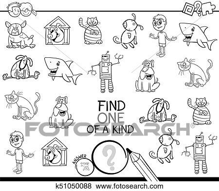 Clip Art - finden, eins, bild, von, a, art, färbung, spiel k51050088 ...