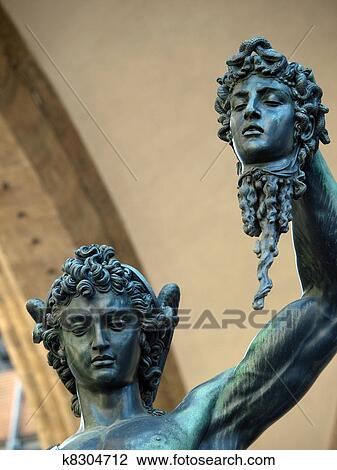 Florence Perseus Holding The Head Of Medusa By Cellini