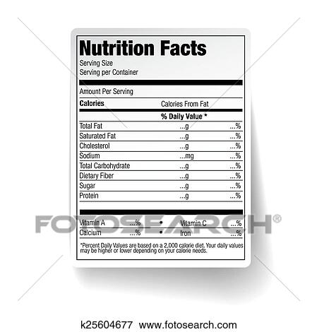 Clip Art Of Nutrition Facts Food Label K25604677
