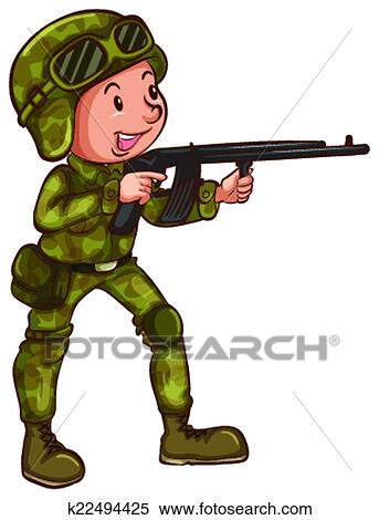 clipart of soldier k22494425 search clip art illustration murals rh fotosearch com clipart soldier at cross clipart soldiers marching