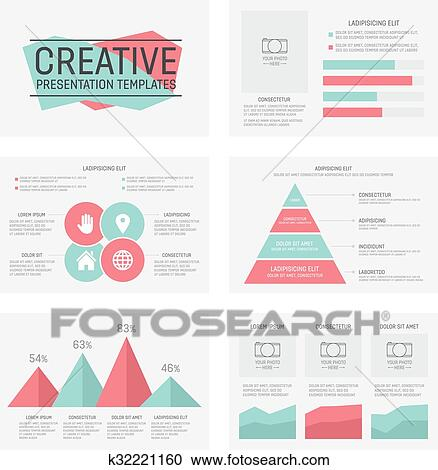 Clipart of vector template for multipurpose presentation slides with vector template for presentation slides with graphs and charts toneelgroepblik Image collections
