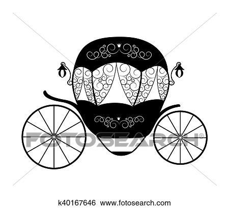 clipart cor de rosa princesa cinderela fairytale carriage