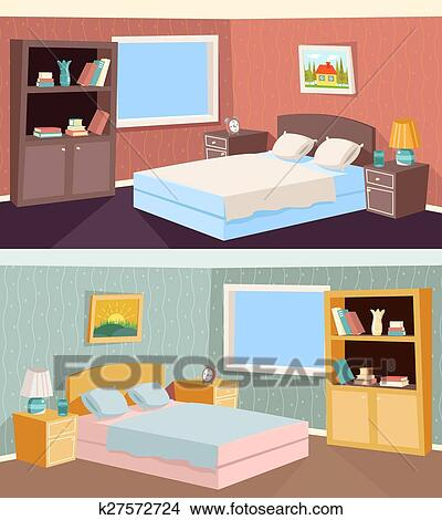 clipart dessin anim chambre coucher appartement livingroom int rieur maison salle. Black Bedroom Furniture Sets. Home Design Ideas