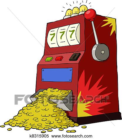 clipart of gambling machine k8315905 search clip art illustration rh fotosearch com gambling clip art free free gambling clipart images
