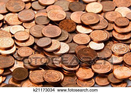 Stock Foto Geldmünzen Hintergrund Euro Münzen Cent Münzen