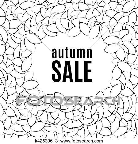 Clipart - otoño, sale., plano de fondo, de, un, pila, de, hojas ...
