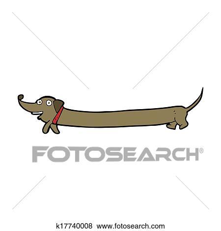 漫画 ダックスフント イラスト K17740008 Fotosearch