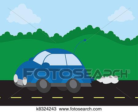 Car Driving On The Road Clipart K8324243 Fotosearch