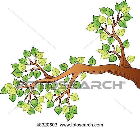 clipart of cartoon tree branch with leaves 1 k8320503 search clip rh fotosearch com branch clip art free branch clip art free