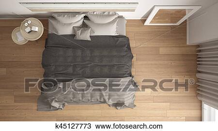 Dessin - classique, chambre à coucher, scandinave, moderne, style ...