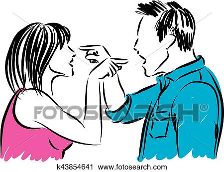 clipart of couple man and woman arguing illustration k43854641 rh fotosearch com