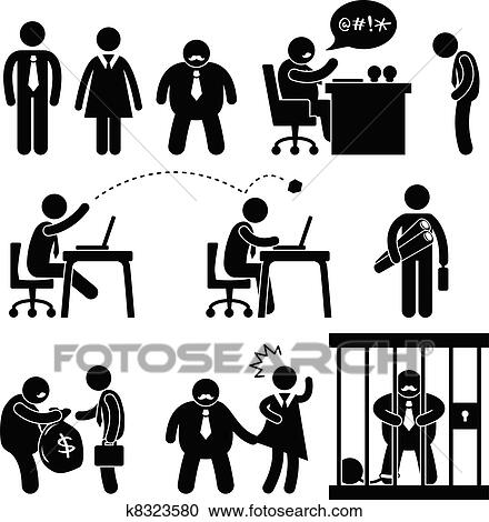 clipart affaires dr les bureau patron ic ne k8323580 recherchez des clip arts des. Black Bedroom Furniture Sets. Home Design Ideas