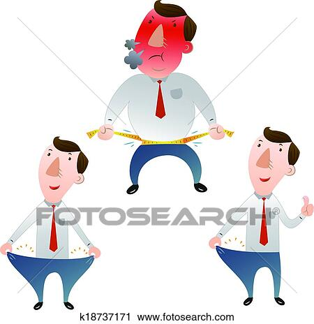 clipart of man with weight loss k18737171 search clip art rh fotosearch com weight loss clipart images weight loss clip art images