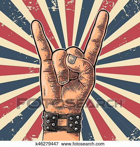 Rock Roll Signe De La Main Clipart Arc Cowohlteco Ml