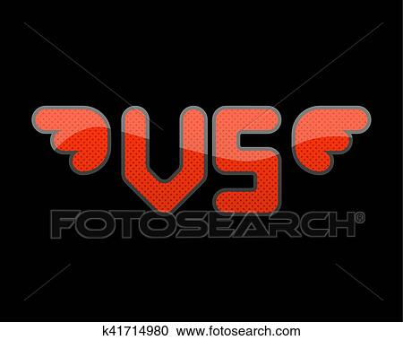 Vs Logo Versus Sign Symbol Competition Concept Logotype Of V