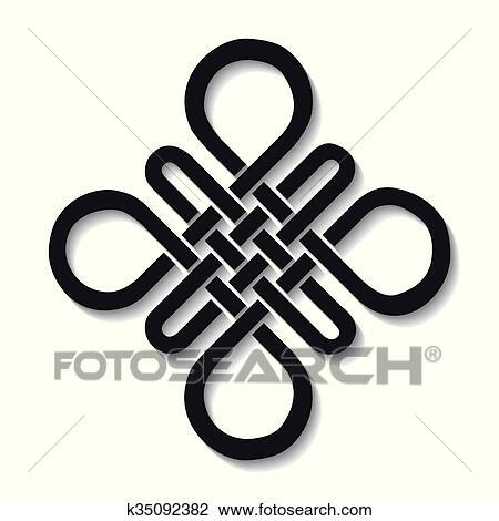 Clipart Of Auspicious Endless Knotbuddhist Symbol K35092382