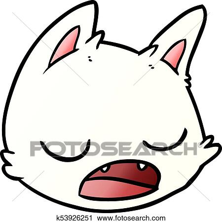 clipart caricatura gato rosto k53926251 busca de ilustrações