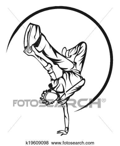 Clip Art Of Dance Boy Symbol K19609098 Search Clipart