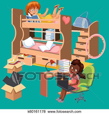 Pleasing Girls Dorm Room Flat Poster Dormitory Interior Design With Machost Co Dining Chair Design Ideas Machostcouk