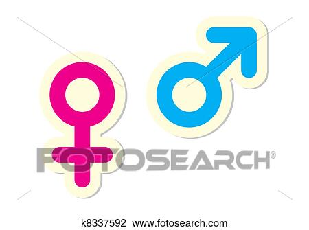 Clipart Of Male And Female Symbols K8337592 Search Clip Art