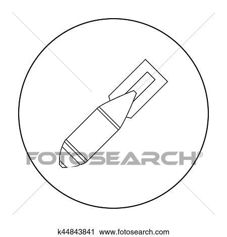 Clipart militar bomba area cone em esboo estilo isolado militar bomba area cone em esboo estilo isolado branco experincia militar e exrcito smbolo vetorial ilustrao ccuart Images