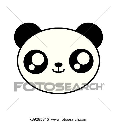 Panda Bear Kawaii Cute Animal Icon Clipart K39285345