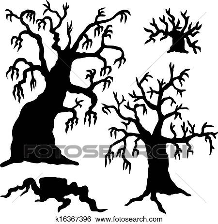 clip art of spooky trees silhouette collection k16367396 search rh fotosearch com spooky tree clip art free spooky tree clip art free