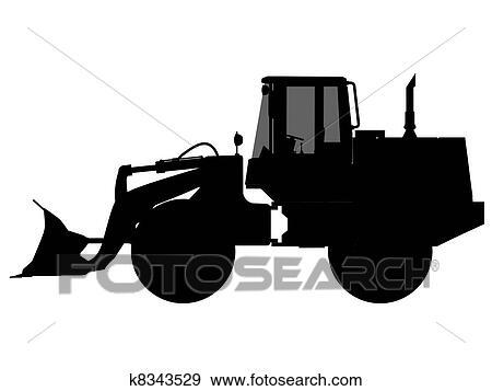 Stock Illustration Of Excavator Silhouette Outline K8343529