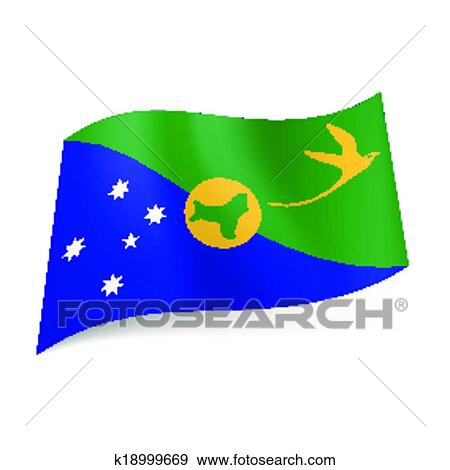 Christmas Island Flag.Flag Of Christmas Island Clip Art