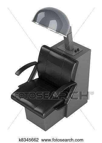 Peachy Hair Dryer Chair Drawing K8345662 Fotosearch Caraccident5 Cool Chair Designs And Ideas Caraccident5Info