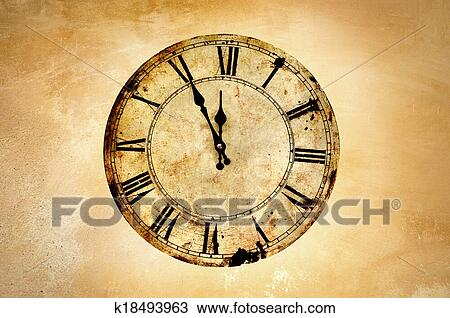 Wonderlijk Ouderwetse, klok Stock Afbeelding | k18493963 | Fotosearch NG-93