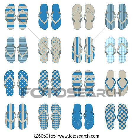7851489d7 Pop Art style flip flops in a colorful checkerboard design. 10 eps
