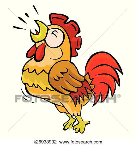 clipart of rooster crow k26938932 search clip art illustration rh fotosearch com clipart rooster crowing clipart rooster free
