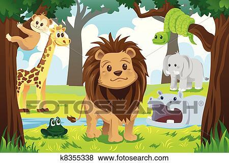 Animal Kingdom Clip Art K8355338 Fotosearch