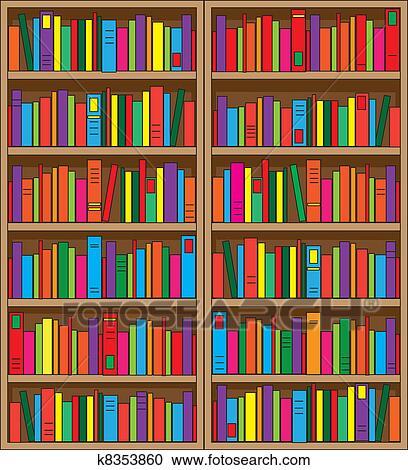 Bücherregal Clipart
