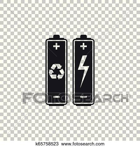 battery with recycle symbol renewable energy concept icon isolated on transparent background flat design vector illustration clipart k65758523 fotosearch fotosearch