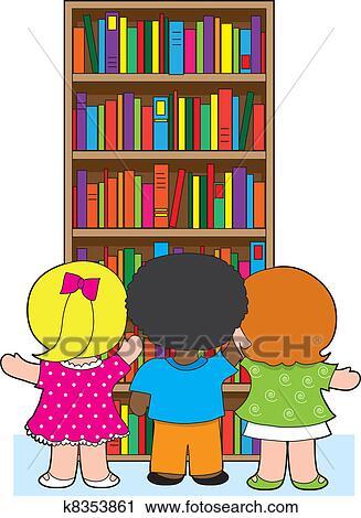 Bibliotheque Gosses Clipart